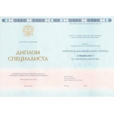 Диплом специалиста 2013